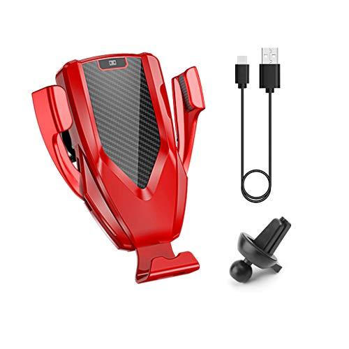 JENOR Soporte óptico automático de 10 W Qi inalámbrico de carga rápida para ventilación de coche, compatible con iPhone 8 XS Max Samsung S9 S8 S7 Note 9 8 Huawei Mate 20 Pro