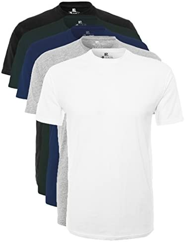 Lower East Pack de 5 Camisetas Manga Corta Hombre Multicolor