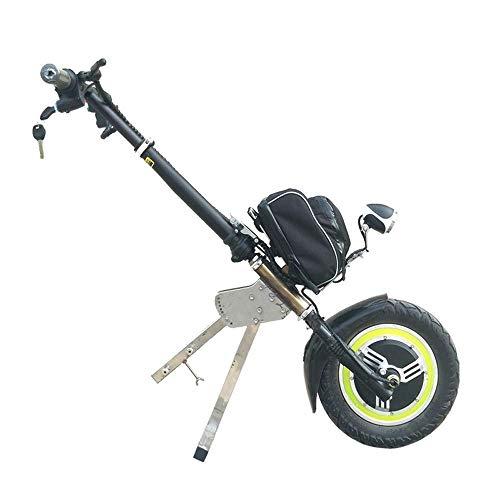 CHHD Elektrische Rollstühle, 36-V-Traktor-Handbike, bürstenlos, abnehmbar, deaktivierter Auto-Traktionskopf Älterer Elektrofahrzeug-Rollstuhlrahmen Frontantriebshalterung