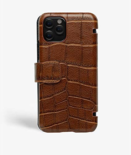 iPhone 11 Pro Card Case Crocodile Cognac