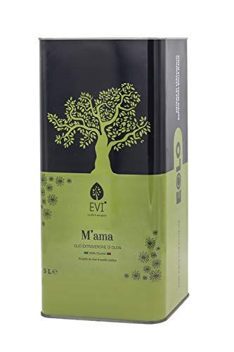 Olio Extravergine di Oliva Italiano | Olio Evo 2020 - 2021 | Nuova Lattina Antispreco | Cultivar Coratina | Made in Puglia - Italy | Olio con grande Intensità Olfattiva (5 Litri).
