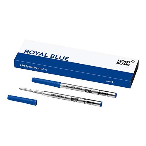 Montblanc 124491 - Minas, cartuchos y borrador de tinta, color azul