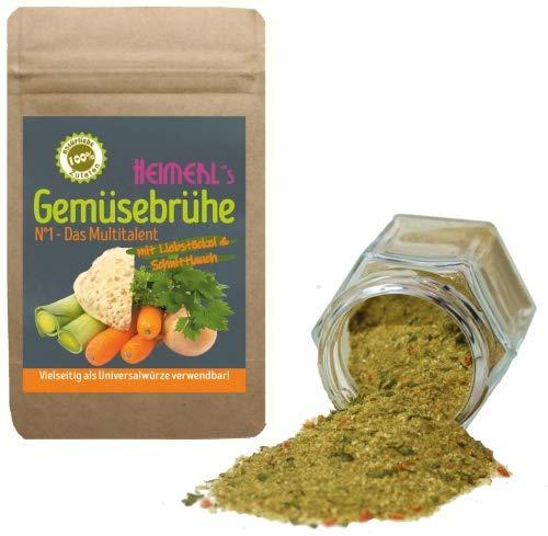 HEIMERLs Gemüsebrühe Nr.1 - 150g - mit viel Gemüse & Liebstöckel - ohne Zusatz von Hefe, Zucker,...
