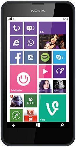 Nokia Lumia 635 Smartphone, Micro SIM, Display 4,6 pollici, Fotocamera 5 MP, Win 8.1, Nero [Germania]