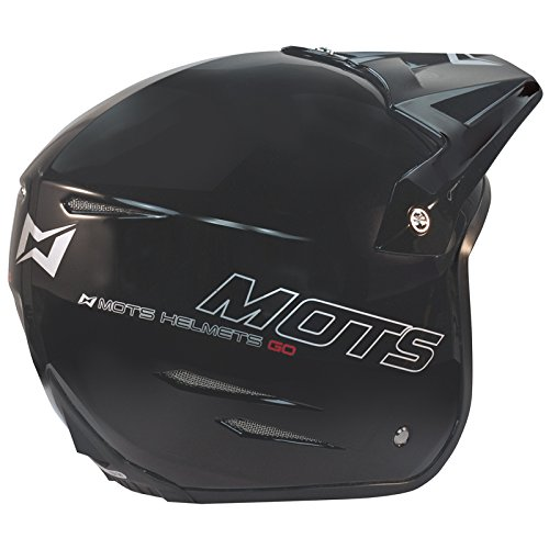 Mots MT6201XLN Trial Go Casco, Negro, Talla XL