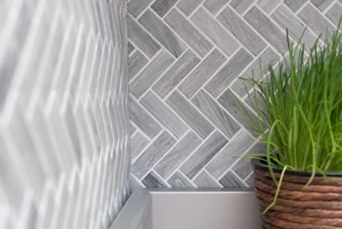 Mozaïek tegel keramiek visgraat steen-look grijs doucheachterwand tegelspiegel MOS24-SO32_m
