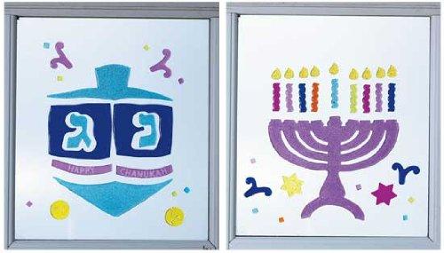 Reusable Hanukkah Glitter Gel Decorations - 2 Sheets
