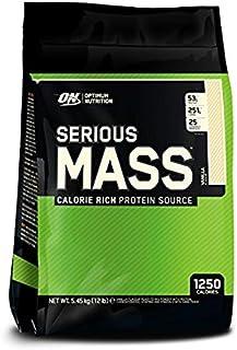 Optimum Nutritin Serious Mass Vanilla Flavor, 12 Lbs