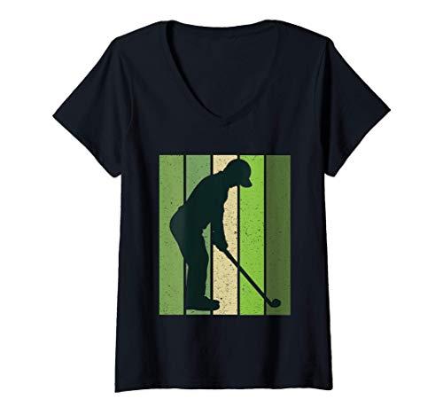 Femme Homme Golf Putt Retro Sunset Stroke Play Match T-Shirt...