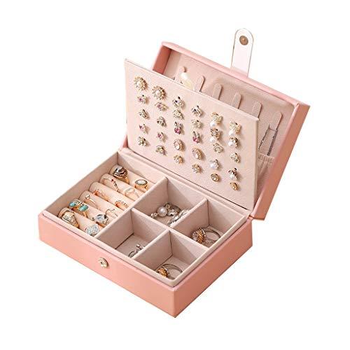 ZYS joyero Cajas para Jewelry Box Girls Organizer Viajes Pequeña Caja de joyería portátil para Anillos Pendientes Collares Regalo de Almacenamiento para Mujeres Caja de Almacenamiento de Joyas
