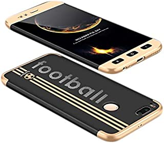 Xiaomi Mi A1 case, Fashion ultra Slim GKK 360 special edition Football 3d printed Full Protection cover Case - Black & Gold