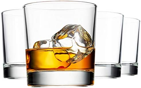 Godinger Old Fashioned Whiskey Glasses Italian Made Glass Beverage Cups Set of 4 product image