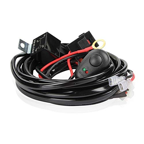 ZHENGYI Kit de arnés de cableado Fuse Fuse Relay Interruptor 40A 12V Ajuste para Trabajo LED Trabajo CUERTE HID Bar (Color : Black)
