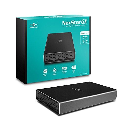 Vantec 2.5インチ SATA HDD/SSDケース USB 3.1 Gen2 Type-C [NexStar® GX] 放熱性の高いアルミ製カバー USB...