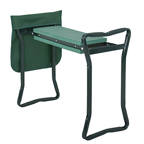 GreatSD12 Folding Garden Kneeler Bench Kneeling Soft Eva Pad Seat with Stool Pouch Home Gardening Supplies