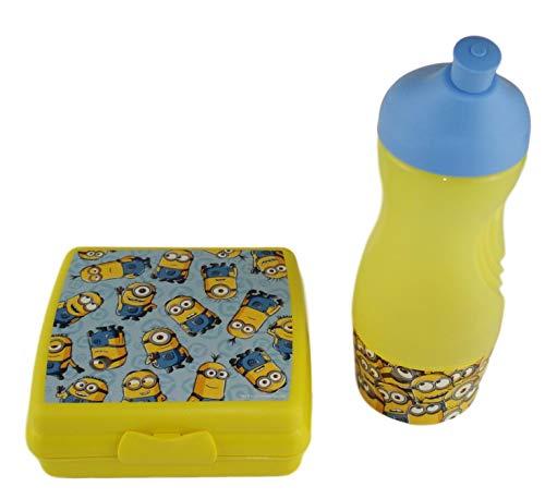 TUPPERWARE Set Brotdose + Sportfreund klein 415 ml gelb/blau Minions C93 Sportflasche Trinkflasche