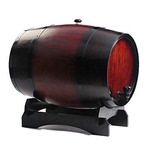 XJZKA Barril de Roble de 50L Barril de Madera para Bebidas espirituosas y Cerveza de Barril Dispensador de Barril de Whisky de Madera, Barril de Roble Barril de Madera para almacenamient