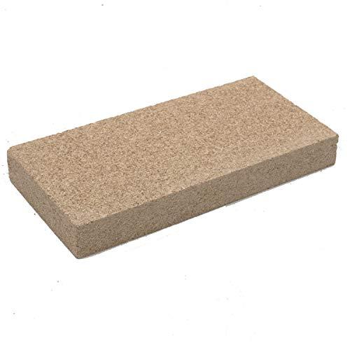 Vermiculit-Platte Vermiculite Schamottstein Schamotte Ersatz, 25x12,5x3 cm 1 Platte