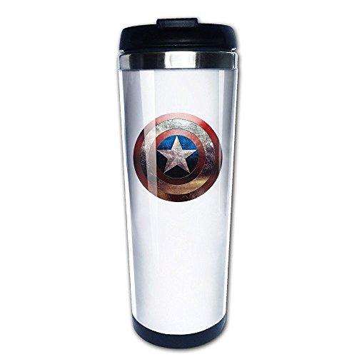 MIOPAIGE Captain America Shield Vacuum Cup Coffee/Travel Mug(Teetassen/Kaffeetassen)s