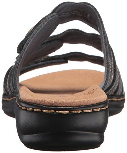 Clarks Women's Leisa Grace Sandal, Blue/Grey Leather, 9 W US