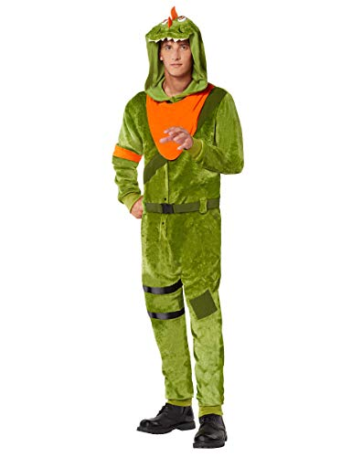 Adult Fortnite Plush Rex Costume - L/XL Green