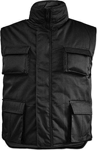 normani Herren Outdoor Rangerweste wattiert oder ungefüttert mit vielen Taschen zur Auswahl Farbe Schwarz gefüttert Größe 3XL