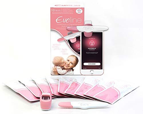 Eveline 10 Ovulationstest Fertilitätsmonitor Starterpack inkl. smarter App für genaue Ergebnisse, Automatische Erkennung der Testergebnisse
