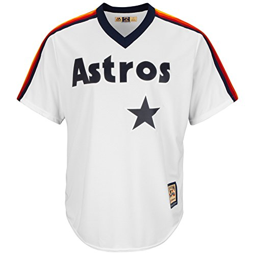 Men's Majestic White Houston Astros Cooperstown Cool Base Team Jersey