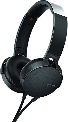 Sony XB550AP Extra Bass On-Ear Headset/Headphones with mic for phone call, Black