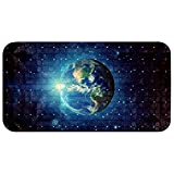 Bennigiry 14.7 x 26.9inches Bathroom Soft Showermat for Massage with Suction Cups and Drain Holes Space Galaxy
