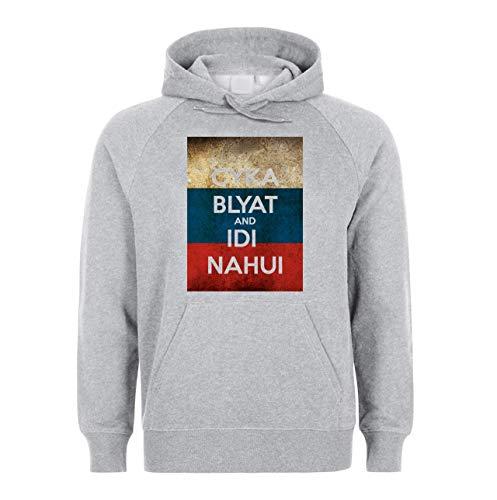 NoMoreFamous Cyka Blyat and Idi Nahui Unisex Sweatshirt Hoodie Sweat à Capuche Large