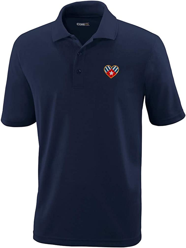 Speedy Pros Polo Don't miss the campaign Performance Shirt Mail order D Cuban Flag Heart Embroidery