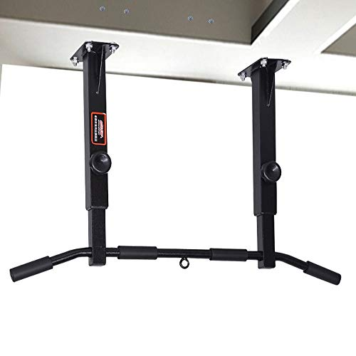 Multi-Gym Pull Up Bar Pullup Bar Wall Mounted Pull Up Chin Up Bar, Third Gear Height Adjustment