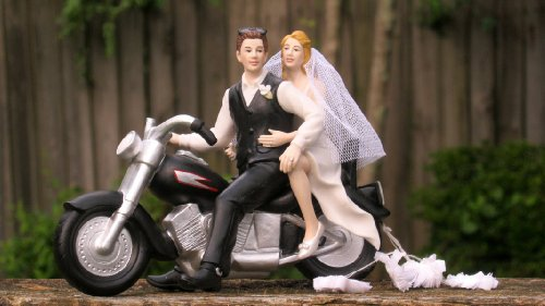 Motorbike Cake Topper With Bride And Groom