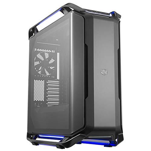 Cooler Master COSMOS C700P Black Edition - Case RGB in Acciaio Finitura Matte con Doppio Panello Laterale in Vetro Temperato Curvato, Struttura Modulare 2.0 e Ottimo Spazio Hardware - Full Tower