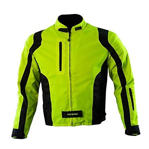 AIROBAG - Motorrad-Airbag-Jacke - Größe M - Hohe Sichtbarkeit Gelb - Motorradjacke - Urban HV Modell - Schützt Rücken, Ellbogen und Schultern - Maximaler Schutz - CE EN 1621 und EN 17092