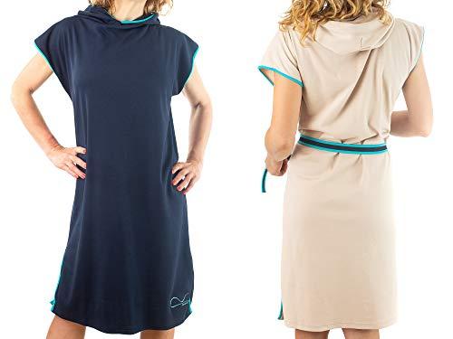 tuuli Accessories Strand Poncho Umziehhilfe Umkleidehilfe für Kinder Erwachsene Damen Herren 100% Baumwolle (Blau, L)