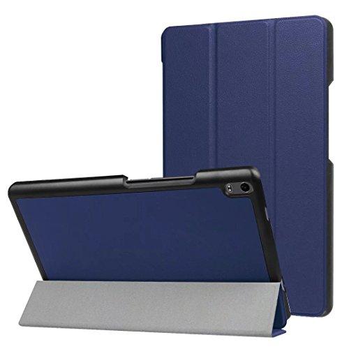 Xinda Schutzhülle für Lenovo TAB48Plus (TB-8704F) Tablet (2017), 8 Zoll (20,3 cm), extrem schmal, leicht, automatische Weck- und Schlaffunktion blau