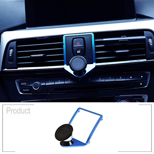 TongSheng 3 Colours for BMW 1 2 3 4 Series GT F22 F23 F30 F31 F35 F34 F32 F33 F36 F80 F82 F83F87 M4 2013-2019 with a M Logo Aluminum Alloy Mobile Phone Holder Trim (Blue)