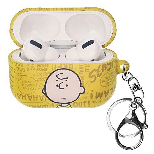 Peanuts Charlie Brown ピーナッツ チャーリー ブラウン AirPods Pro と互換性があります ケース キーホルダー エアーポッズ プロ 用 ケース 硬い スリム ハード カバー (言葉 チャーリー ブラウン) [並行輸入品]