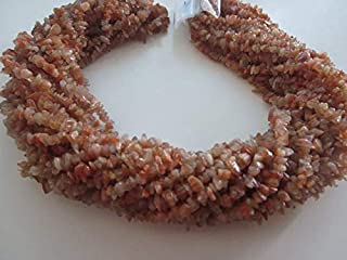 """Jewel Beads Natural Beautiful jewellery 50 Strand Elegent Finest Quality 34"""" Natural Sunstone 3-4 mm chips/uncut/Free size gemstone beads looseCode:- BB-45044"""