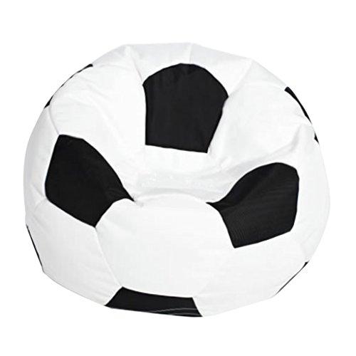 S Bepouf Poltrona Sacco Calcio Puf Pallone Pouf Football Dimensioni 55x35 Cm Ecopelle Pieno