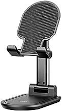 Desktop Portable Phone Tablet Holder - Aluminium Alloy Stand (Silver) (Black)