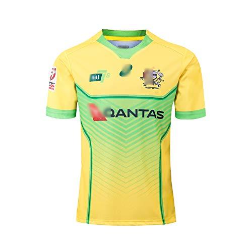 2019 Australien Sevens Rugby Jersey Kurzarm-Training Rugby-Shirts Herren Damen Kinder Sportswear T-Shirt Training Team Rugby-Trikot zum Geburtstagsgeschenk-S
