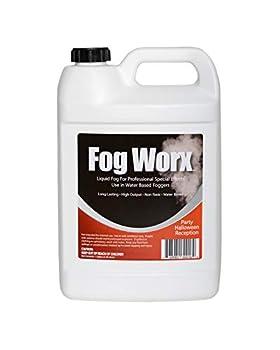 FogWorx Fog Juice - 1 Gallon of Organic Fog Fluid  128 oz  - Medium Density High Output Long Lasting Fog Machine Fluid for 400 Watt to 1500 Watt Machines