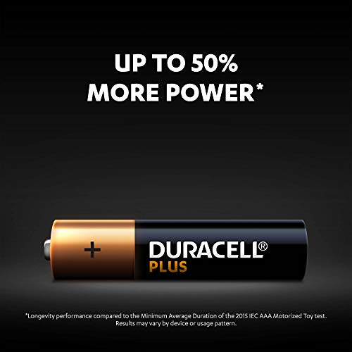 Duracell Plus AAA Alkaline Batteries [Pack of 12], 1.5 V LR03 MN2400