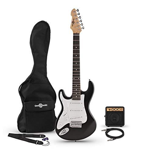 Guitarra Electrica LA 3/4 Zurda + Mini Amplificador - Negro
