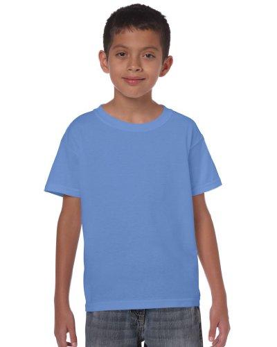 Gildan -  T-shirt - Maniche a 3/4 - ragazzo Blu Carolina Small