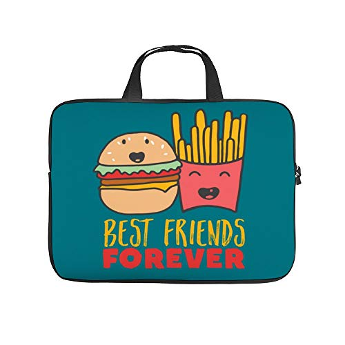 Diving Fabric,Neoprene,Sleeve Laptop Handle Bag Handbag Notebook Case Cover Friendship Burger and Fries Best Friends Forever,Classic Portable MacBook Laptop/Ultrabooks Case Bag Cover 15 inches