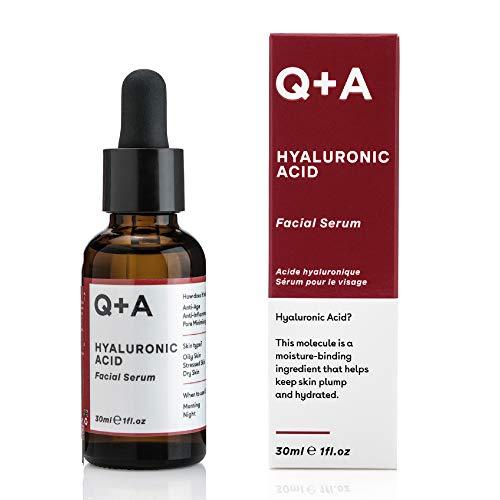 Q+A Siero per il viso con acido ialuronico. Siero per il viso dalle eccellenti proprietà idratanti per una pelle sana e tonica. 30 ml